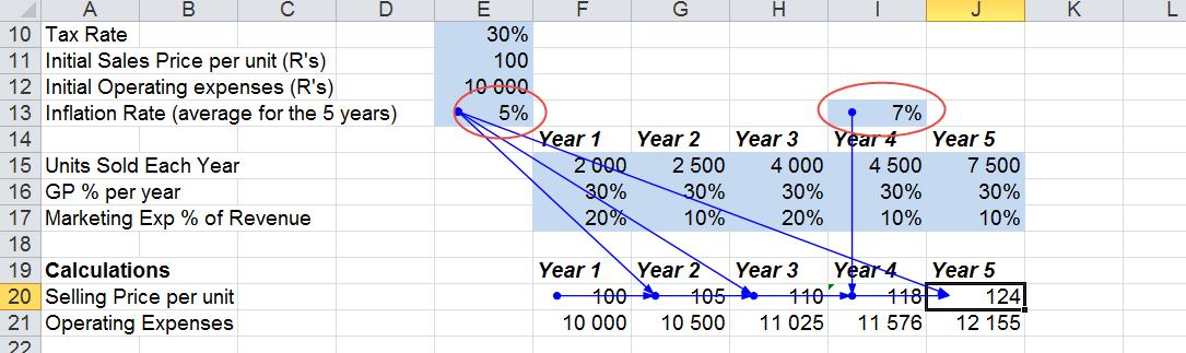 Consistency of Formula across rows columns
