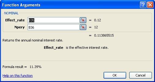 nominal vs effective