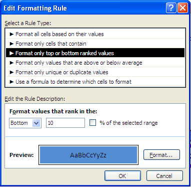 Conditional Formatting Simple