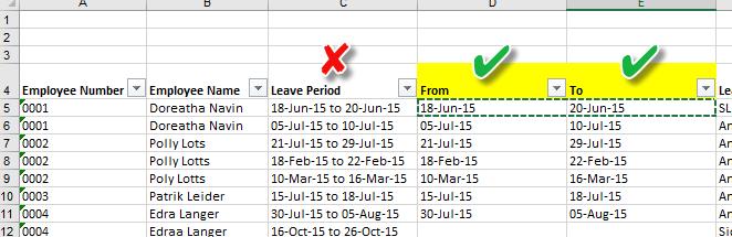 Fixing Dates