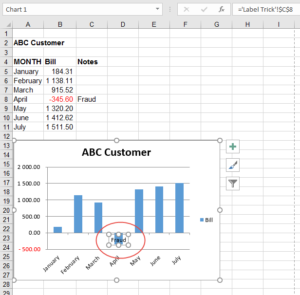 Add commentary to labels for older versions of Excel