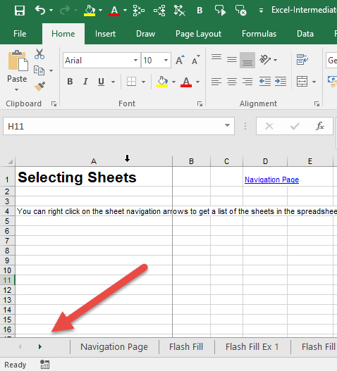 Selecting sheets