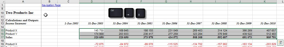 selecting ranges