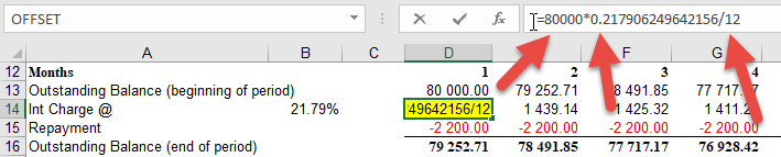 Drill down into Excel formula to see resultant numbers