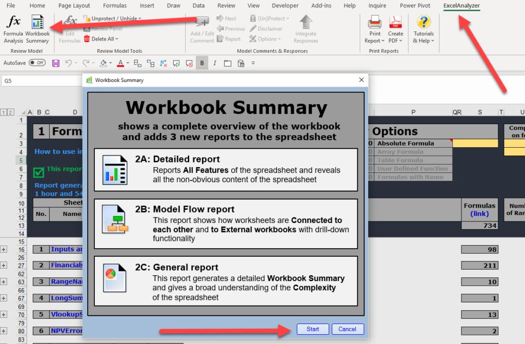 ExcelAnalyzer reports