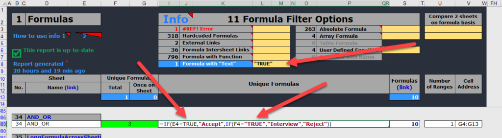 Text 'hardcoded' into formulas