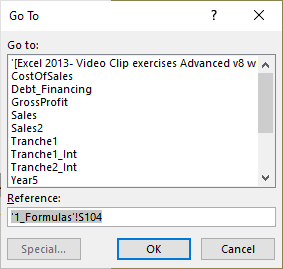 navigation shortcuts for ExcelAnalyzer